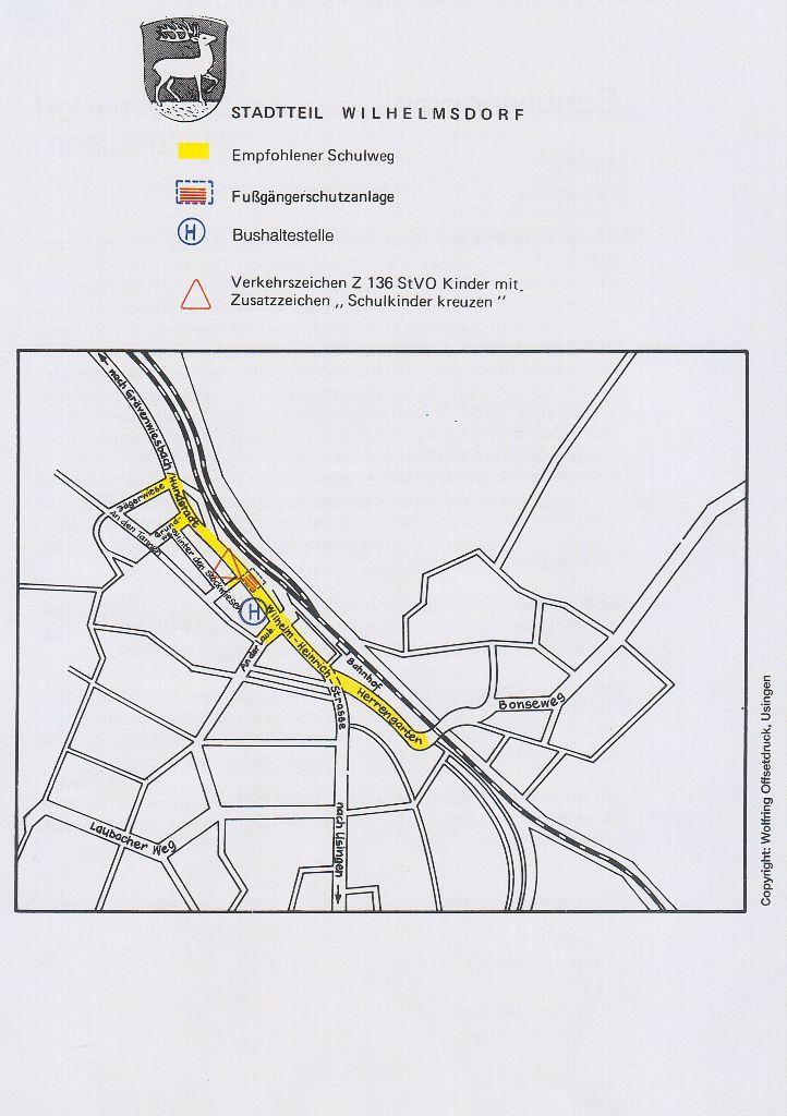 Schulwegeplan Wilhelmsdorf